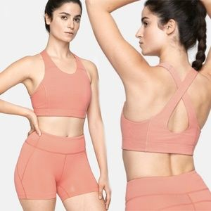 Outdoor Voices Tops - Outdoor Voices TechSweat Key Crop Bra in Coral - M